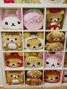 Rilakkuma stuffed animals.