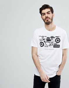 Barbour International Mechanical T-shirt in White