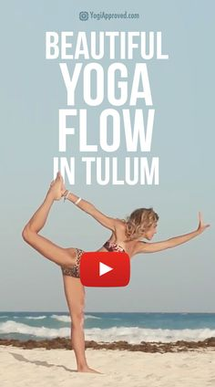 Enjoy this beautiful yoga flow on the beach of Tulum, Mexico with YogiApproved founder Ashton August. Watch the video here. Enjoy this beautiful yoga flow on the beach of Tulum, Mexico with YogiApproved founder Ashton August. Watch the video here. Yoga Flow Sequence, Yoga Sequences, Yoga Poses, Kundalini Yoga, Yoga Meditation, Zen Yoga, Qi Gong, Pilates Reformer, Fitness Quotes
