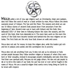 A description of wicca