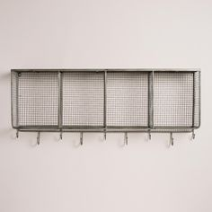 The mix of galvanized metal and mango wood on our wall unit exudes industrial appeal. >> #WorldMarket Home Office