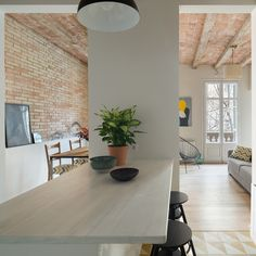 Barrel-vaulted ceilings and exposed brick walls evoke the heritage of this apartment in Barcelona, remodelled by local studio Nook Architects Cosmopolitan, Design Your Dream House, House Design, Nook Architects, Barcelona Apartment, 3d Home Design, Home Planner, Exposed Brick Walls, Interior Design Photos