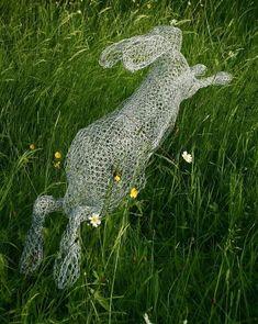 Alice wonderland theme too!!!!Chicken wire garden art....how would a person form this? Gorgeous, isn't it? #GardenArt
