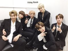 Jimin, Jungkook, Taehyung, Jhope, Jin, Rapmon - Suga's not there because he was ill but im so glad he's well now <3
