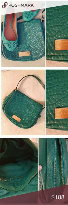 ~ Marc.J ~Leather: Large Flap- X-Body Bag~ ~ Very nice Marc Jacobs Cross-body Flap Bag ~ High quality Leather/croc-like texture ~ My fave' feature: the gorgeous color~ Teal/ Jade Green w/Gold Hardware  ~ Long Adjustable Strap~Zipper around perimeter of bag allows for space expansion if needed ~ Purch'd @ Bloomingdales a few seasons back, carried  only 6-7 times~ perfect condition, no rips tears etc.~ thanxx Marc Jacobs Bags Crossbody Bags