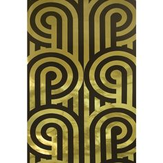 Florence Broadhurst Turnabouts Wallpaper (€425) ❤ liked on Polyvore featuring home, home decor, wallpaper, backgrounds, gold, pattern, florence broadhurst wallpaper, stripe pattern wallpaper, black metallic wallpaper and gold striped wallpaper
