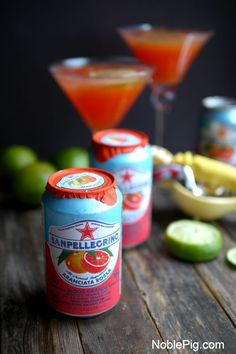 Summertime Blood Orange Martini from NoblePig.com.