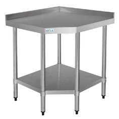 Vogue Stainless Steel Corner Table 700mm - GL278