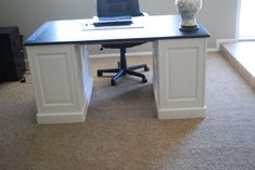 99+ Diy Home Office Desk - Best Home Office Furniture Check more at http://www.sewcraftyjenn.com/diy-home-office-desk/