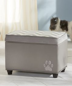 Take a look at this Gray Pet Storage Trunk by Enchanted Home Pet on #zulily today!