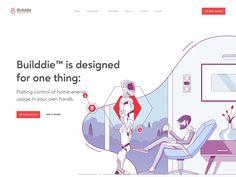 Builddie Website Scrolling Animation designed by Alex Kalinichenko for Shakuro. Flat Web Design, Interaktives Design, Layout Design, Logo Design, Custom Web Design, Design Ideas, Cover Design, Graphic Design, Web Design Websites
