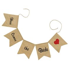 Burlap Banner Garland - Here Comes the Bride. Available at Persnickety Invitation Studio.