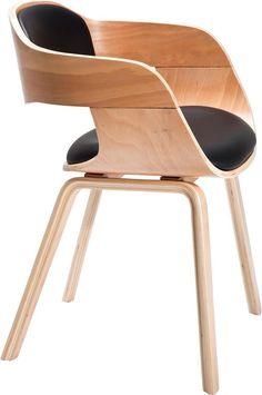 Kare design :: Krzesło z podłokietnikami Costa Beech jasne nogi, czarne siedzisko | MEBLE \ Krzesła WYBIERZ SWÓJ STYL \ Eko WYBIERZ SWÓJ STYL \ Vintage/patchwork | Kare design Warszawa