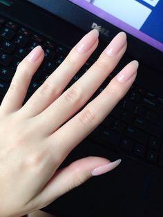 No chip manicure- IBD gel polish in Macaroon