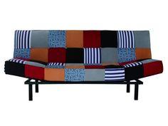 Sofá cama tapizado patchwork