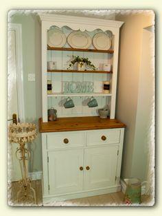 Shabby Chic Kitchen Dresser www.chicmouldings.com