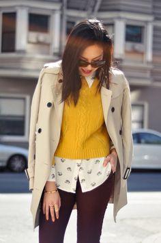 autumn fashion fever.. mustard yellow