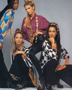 #naomicampbell #stephanieseymour #christyturlington #yasmeenghauri #supermodels #90sfashion