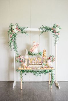 A Darling Dessert Display for a Birthday! – The Perfect Palette A Darling Dessert Display for a Birthday! A Darling Dessert Display for a Birthday with gorgeous captures by L'Estelle… Boho Baby Shower, Girl Shower, Bridal Shower, Baby Shower Flowers, Fiesta Shower, Shower Party, Shower Set, Baby Birthday, 1st Birthday Parties