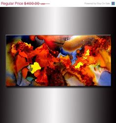 Original Modern Abstract Painting Canvas art by newwaveartgallery, $320.00