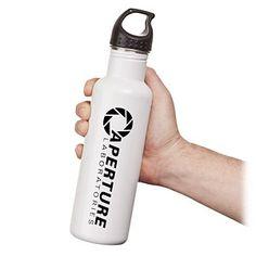 Aperture Laboratories Water Bottle... wanwantwantwantwantwantwantwantwantWANTWANTWANT!!!!!!!!!!