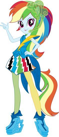 V2 Rainbow Rocks Rainbow Dash Vector by icantunloveyou on deviantART