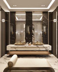 Washroom Design, Toilet Design, Bathroom Design Luxury, Modern Bathroom Design, Modern House Design, Mansion Interior, Luxury Interior, Home Interior Design, Interior Plants