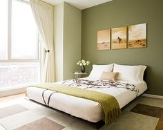 beautiful green wall paint colors feng shui bedroom decor - Color Bedroom Design