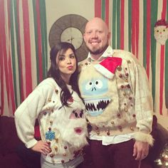 Pin for Later: 35 Cheap and Easy Ugly Christmas Sweater DIYs Abominable Snowman Sweater When in doubt, sew on holiday-themed characters from movies to your ugly Christmas sweater.