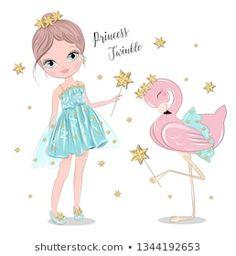 Vector de stock (libre de regalías) sobre La Bicicleta de Amo Niña Flora1257097261 Little Girl Drawing, Cute Fairy, Bottle Cap Images, Color Pencil Art, Diy Home Crafts, Anime Chibi, Christmas Art, Girl Cartoon, Bird Art
