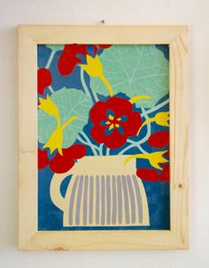 "JUST SAY VINTAGE Collection - Hand painted signs - ""Flowers in Soviet pot"" von SovietGallery auf Etsy"