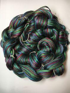 Pre wound Scarf Weaving Kit - Purple Green Colorway