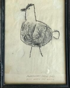 Thanks Dad for framing this and giving me confidence at age 4#art#childrensart