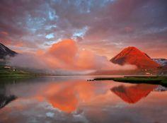 Early one morning in Ólafsfjarðarvatn, #Iceland