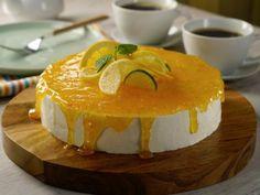 Receta de Cheesecake sin Horno con Espejo de Naranja