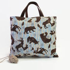 Reusable Fabric Gift Bag Woodland Birch from Valenciana Designs