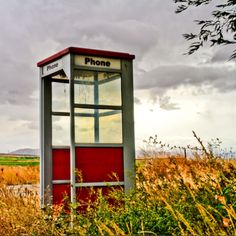 Phone booth in a field!! Days gone by! #photography