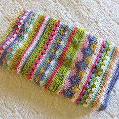Card-Blanc by Kathy Martin: Crochet Day - Dehily Scrap Yarn Crochet, Crochet Quilt, Crochet Blocks, Crochet Cross, Afghan Crochet Patterns, Crochet Stitches, Knitting Patterns, Knit Crochet, Crochet Square Blanket