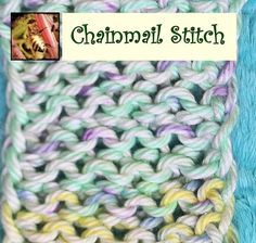 Loom Knitting - Chainmail Stitch by Theresa Higby