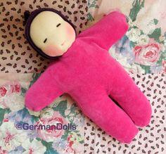 12 inch Waldorf style pink Elf doll - cuddle doll - waldorf toy - soft doll