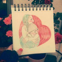More of the dame movie, The eternal sunshine of the spotless mind. My roses at the background. Seguimos con la misma película, Olvídate de mí, con mis rosas de fondo.  #drawing #sketch #sketchbook #sketchdaily #love #moviecouple #pencils #colourpencils #hug #boceto #lapices #color #dibujo