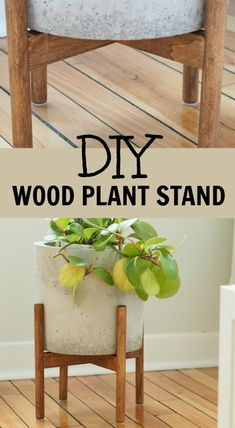 make a wood plant standHow to make a wood plant stand Plant Stand + Matte White Ceramic Planter Included - Modern Plant Pot and Wood Stand DIY Plant Stand, mid-century plant stand, West Elm inspired plant stand Mid-Century Plant Stand - DIY West Elm Plant Stand, Modern Plant Stand, Diy Plant Stand, Garden Plant Stand, Diy Concrete Planters, Diy Planters, Planter Ideas, Succulent Planters, Bois Diy