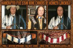 Handcrafted Five Stand Bone Chokers By Kenneth Lonewolf From Tribal And Western Impressions - Old West Cowboy And Indian Store - www.indianvillagemall.com