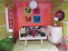 AG Minis groovy room!! Ahh so awesome I love small things ..