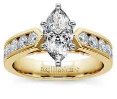 Marquise Channel Diamond Engagement Ring in Yellow Gold  http://www.brilliance.com/engagement-rings/channel-diamond-ring-yellow-gold-3/4-ctw