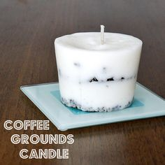 Make a candle using coffee grounds for a subtle coffee scent!