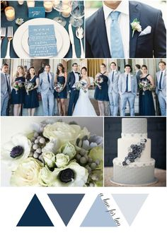 Shades of Blue Vintage Wedding Colour Scheme | Wedding Blog | A Hue For Two