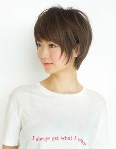 小顔ショートレイヤーの髪型(YR-450) | ヘアカタログ・髪型・ヘアスタイル|AFLOAT(アフロート)表参道・銀座・名古屋の美容室・美容院