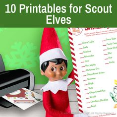 Elf On Shelf Printables, Printable Crafts, Christmas Printables, The Elf, Elf On The Shelf, Christmas Angels, Christmas Stockings, Elves At Play, Elf Pets