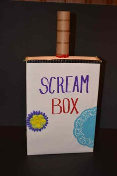 Using A Scream Box to Alleviate Anger, Fear and Stress A Scream Box is a fun and effective way to vent some of those intense emotions that build up inside like anger, fear and stress. While breathing, physical activity and talking about it are great… Counseling Activities, Art Therapy Activities, Counseling Worksheets, Calming Activities, Group Activities, Coping Skills, Social Skills, Anger Management, Classroom Management